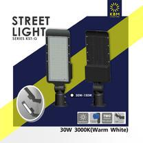 โคมไฟถนน Street Light 30 วัตต์ แสงวอร์มไวท์ รุ่น KSTG