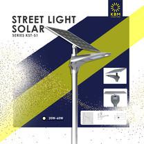 โคมไฟถนนโซล่าเซลล์ Street Light Solar 20w รุ่น KST-S1