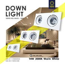 โคมไฟดาวน์ไลท์ โคมไฟแบบส่องลง โคมไฟฝังฝ้า downlight  luminair รุ่น KDLM-ADJ02 (2module) by KBM LIGHTING