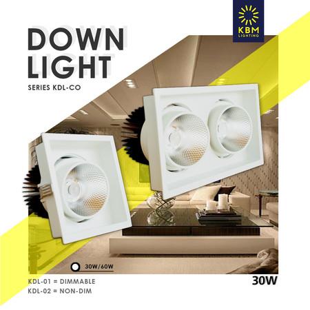 โคมไฟดาวน์ไลท์ โคมไฟแบบส่องลง โคมไฟฝังฝ้า downlight luminair รุ่น KDLM-CO02 (1-2module) by KBM LIGHTING