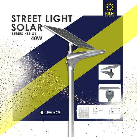 โคมไฟถนนโซล่าเซลล์ Street Light Solar 40w รุ่น KST-S1