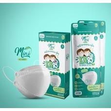 Minicare หน้ากากอนามัย สไตล์เกาหลี mask (เด็ก) แผ่นกรอง 4 ชั้น แบบกล่อง