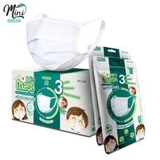Minicare หน้ากากอนามัย สไตล์ญี่ปุ่น mask (เด็ก) แผ่นกรอง 3 ชั้น แบบซอง