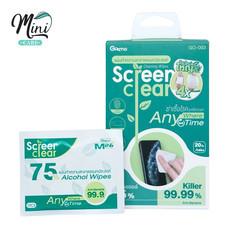 Minicare แผ่นเช็ดฆ่าเชื้อ แผ่นใหญ่ขึ้น 4 เท่า แผ่นทำความสะอาด แผ่นแอลกอฮอล์ 75% Screen Clear รุ่น GO-003