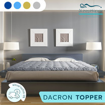 SleepHappy Fluffy Topper ที่รองที่นอน ท็อปเปอร์ Dacron Hybrid เพื่อสุขภาพ สีเทา (หนา 3 นิ้ว) 3.5ฟุต ส่งฟรี