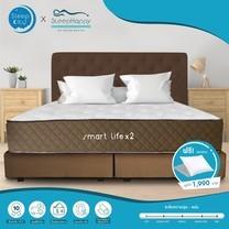 Sleephappy รุ่น Smartlife x 2 (นุ่ม) ที่นอนพ็อคเก็ตสปริง + Memory Foam ที่นอนเพื่อสุขภาพ หนา 11นิ้ว 6ฟุต ส่งฟรี