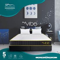 SleepHappy รุ่น Vibe 5ฟุต (แน่น) ที่นอนพ็อกเก็ตสปริงในกล่อง ที่นอนเพื่อสุขภาพ หนา10นิ้ว
