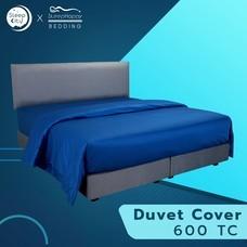 SleepHappy ปลอกผ้านวมสีน้ำเงิน  คอตตอน100%  600 เส้นด้าย 5ฟุต ส่งฟรีทั่วไทย