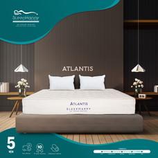 SleepHappy รุ่น Atlantis 5 ฟุต (แน่น) ที่นอนโรงแรมพ็อกเก็ตสปริงในกล่อง ที่นอนเพื่อสุขภาพ หนา10นิ้ว