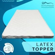 SleepHappy Latex Topper ท็อปเปอร์ยางพารา(หนา4 ซม) แผ่นรองที่นอน ยางพาราแท้ 5 ฟุต ส่งฟรีทั่วไทย