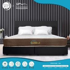 SleepHappy รุ่น CLOUDx2 (แน่นปานกลาง) ที่นอนพ็อคเก็ตสปริง ที่นอนเพื่อสุขภาพ หนา 8นิ้ว 5ฟุต ส่งฟรีทั่วไทย