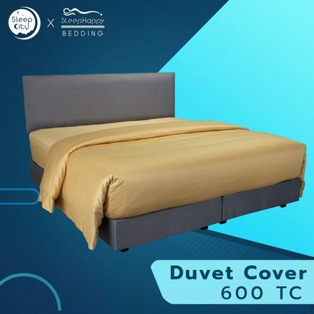SleepHappy ปลอกผ้านวมสีทอง คอตตอน100% 600 เส้นด้าย 3.5ฟุต ส่งฟรีทั่วไทย