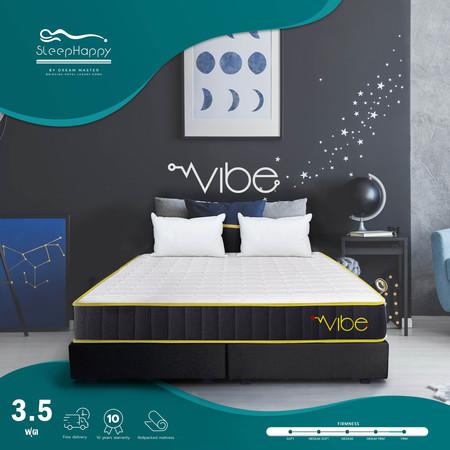 SleepHappy รุ่น Vibe 3.5 ฟุต (แน่น) ที่นอนพ็อกเก็ตสปริงในกล่อง ที่นอนเพื่อสุขภาพ หนา10นิ้ว