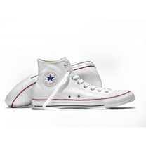 Converse All Star (Leather) hi - White รองเท้า คอนเวิร์ส แท้ หนัง หุ้มข้อ ได้ทั้งชายหญิง
