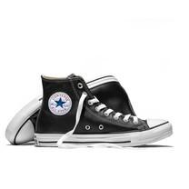 Converse All Star (Leather) hi - Black รองเท้า คอนเวิร์ส แท้ หนัง หุ้มข้อ ได้ทั้งชายหญิง