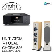 Naim Uniti Atom + Focal Chora 826 สี Light Wood - ข้อเสนอสุดพิเศษ