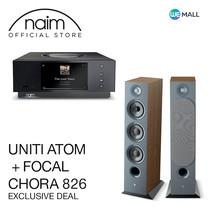 Naim Uniti Atom + Focal Chora 826 สี Dark Wood - ข้อเสนอสุดพิเศษ