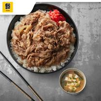 โชนัน Value set 1 - ชุดกิวด้งเนื้อ / หมู + ซุปมิโซะ