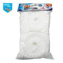 โพลี-ไบรท์ รีฟิลผ้าม็อบถังปั่น ไมโครไฟเบอร์ สีขาว (2 ชิ้น/แพ็ก)