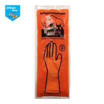 โพลี-ไบรท์ ถุงมือยาง Rhino Size M สีส้ม 1 คู่