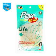 โพลี-ไบรท์ ถุงมือยางอนามัย รุ่น Extra Thin Lite Size S (10 ชิ้น/ซอง)