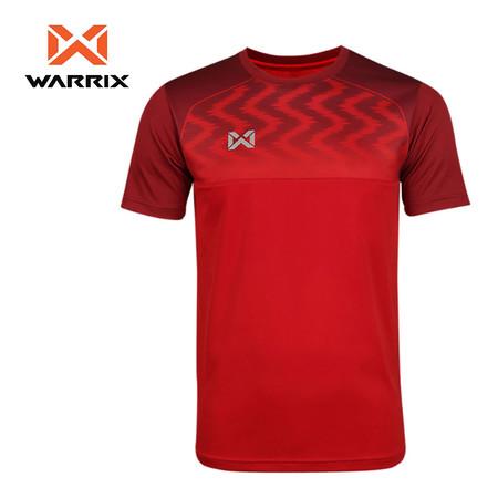 WARRIX เสื้อฟุตบอลคอกลมตัดต่อแขนสั้น WA-FBA573