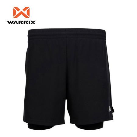 WARRIX กางเกงวิ่งขาสั้นผู้ชาย WP-1608M - สีดำ
