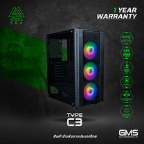 เคส EGA TYPE C3 GAMING PC CASE แถมพัดลม ARGB 3 ตัว สามารถปรับไฟได้ ใช้งานง่าย ของแท้ประกันศูนย์ 1 ปี