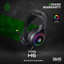 หูฟังเกมมิ่ง EGA TYPE H6 7.1 surround ไฟ RGB โปรแกรมได้ปรับแต่งเสียงได้ตามต้องการ ของแท้ประกันศูนย์ 2 ปี