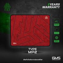 แผ่นรองเมาส์ EGA TYPE MP2 (Red, Grey) ขนาด size S ใช้งานง่ายสบายมือ
