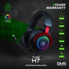 หูฟังเกมมิ่ง EGA TYPE H7 7.1 Surround Red ไฟ RGB โปรแกรมได้ปรับแต่งเสียงได้ตามต้องการ ของแท้ประกันศูนย์ 2 ปี