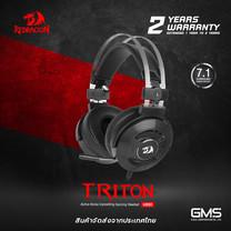 หูฟังเกมมิ่ง Redragon รุ่น TRITON H991 ระบบตัดเสียงรบกวน สำหรับเล่นเกม 7.1 ของแท้ประกันศูนย์