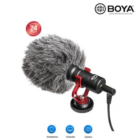 BOYA BY-MM1 ของแท้ ไมค์โครโฟนอัดเสียง ติดได้ทั้งกล้อง โทรศัพท์มือถือ PC MAC ส่งด่วน