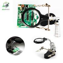 อุปกรณ์ช่วยบัดกรีพร้อมแว่นขยายและไฟ LED