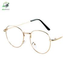 แว่นตาเลนส์ใสกรอบทอง