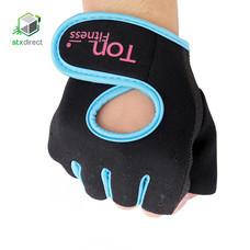 ถุงมือแบบ Half-Finger สำหรับใส่เล่นฟิตเนส