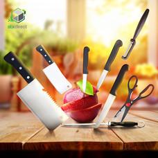 ชุดมีดและอุปกรณ์ทำครัวเซ็ต 8 ชิ้น