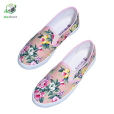 MIOMORI รองเท้าผ้าใบพิมพ์ลายดอกไม้
