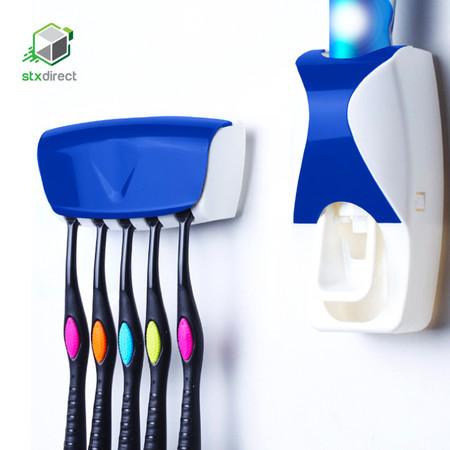 เครื่องบีบยาสีฟันอัตโนมัติ พร้อมที่เก็บแปรงสีฟัน