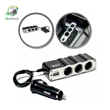 หัวชาร์จ 3 ช่องพร้อมพอร์ท USB