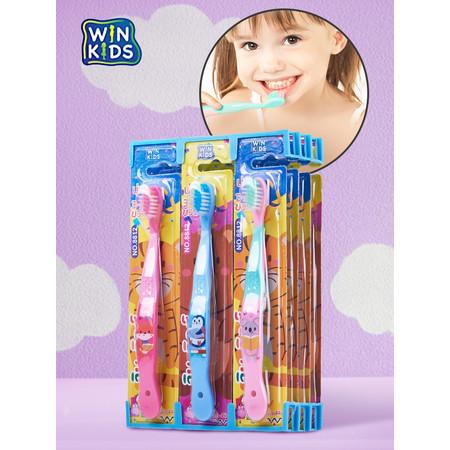 WIN KIDS เซ็ตแปรงสีฟันสำหรับเด็ก 1 เซ็ต x 12 ด้าม