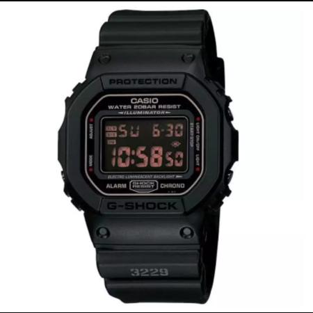 Casio G-shock นาฬิกาข้อมือสุภาพบุรุษ Black Resin Strap รุ่น DW-5600MS-1DR (ประกัน cmg)