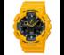 Casio G-Shock นาฬิกาข้อมือผู้ชาย สีเหลือง สายเรซิ่น รุ่น GA-100A-9ADR (ประกัน CMG)