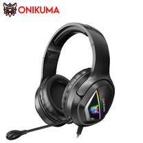 Onikuma X2 RGB Gaming Headset หูฟัง หูฟังมือถือ หูฟังเกมส์มิ่ง PC