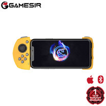 GameSir G6 Yellow Mobile Gaming Touchroller จอยเล่นเกมสำหรับมือถือ ระบบ iOS ออกแบบสำหรับการเล่นเกม FPS และ MOBA ได้สะดวกยิ่งขึ้น โครงสร้าง Two-Stage ยืดหดได้ตามขนาดมือถือ และล็อคได้อย่างมั่นคง