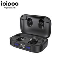 หูฟัง IPIPOO TP-10 หูฟัง True Wireless Earbuds หูฟังไร้าย หูฟังบลูทูธ หูฟังกันน้ำ หูฟังออกกำลังกาย มาพร้อมเคสใส่หูฟังที่เป็น Power Bank รับประกัน 1 ปีเต็ม เสียเปลี่ยนใหม่