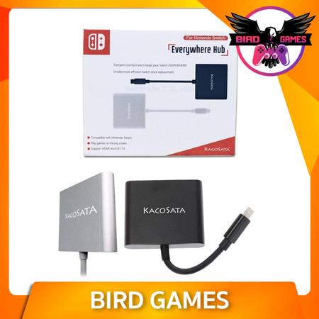 KACOSATA Mini Dock for Nintendo Switch สีเงิน