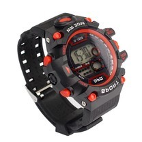 Telecorsa นาฬิกาข้อมือทรงสปอร์ต(สีดำ-แดง) รุ่น Sport-waterproof-durable-digital-timer-watch-00e-K2