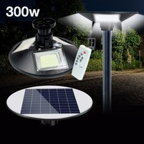 Telecorsa โคมไฟโซล่าเซล พลังงานแสงอาทิตย์ UFO Square Light LED300W รุ่น Solar-street-light-3-ways-garden-00g-Song