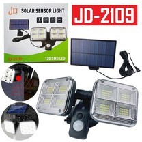 Telecorsa โคมไฟติดผนัง SOLAR SENSOR LITH JD2109 รุ่น Solar-Sensor-light-120-SMD-Led-JD-2109-09a-Song